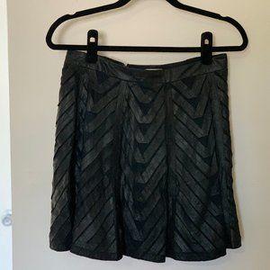 Alice + Olivia Black Leather Skirt Size 8